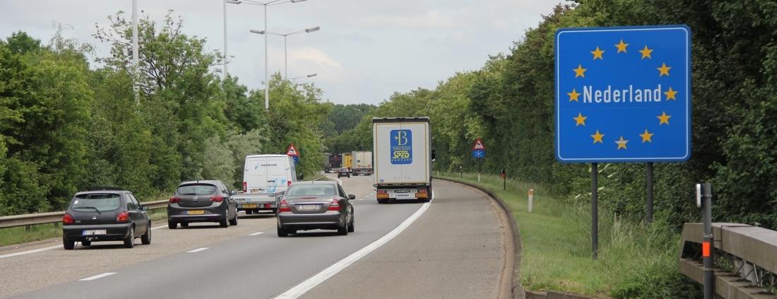nederlandse grensbord